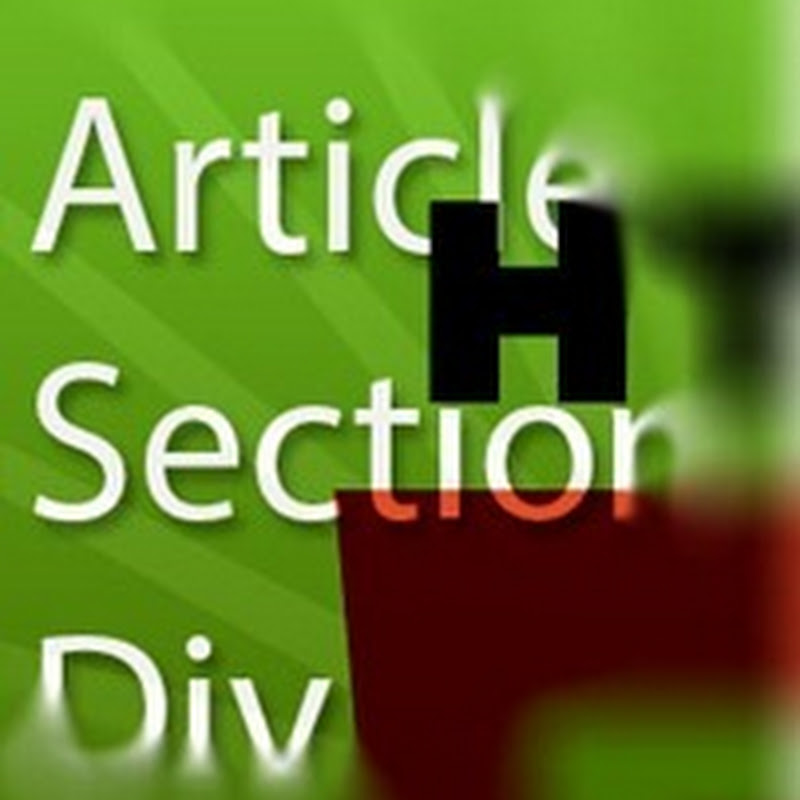 La diferencia de usar div, article y section con HTML5