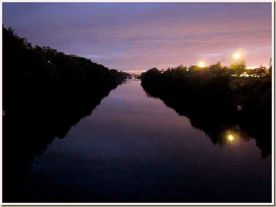 Manchester Ship Canal at dusk
