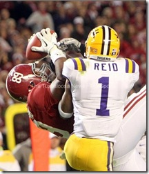 Williams reception Bama LSU Reid no int