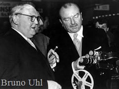Photokina 1951 - Germany's Economics Minister Ludwig Erhard with Agfa-chief Bruno Uhl
