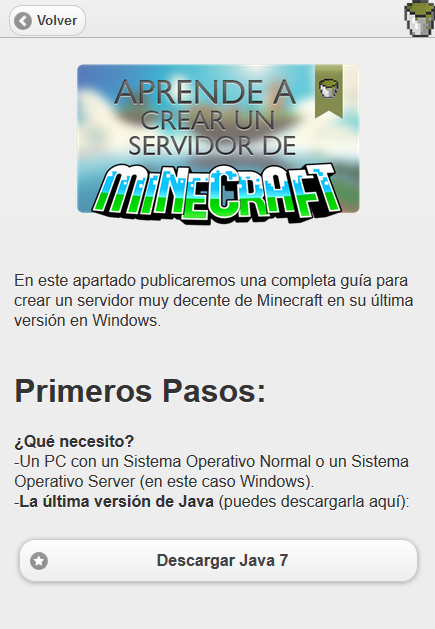 Crea tu Servidor de Minecraft- screenshot