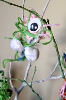 Yarn Monsters from Hands On As We Grow