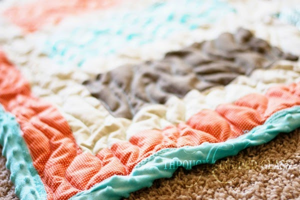 Beach-Inspired Baby Boy Quilt | Through Clouded Glass