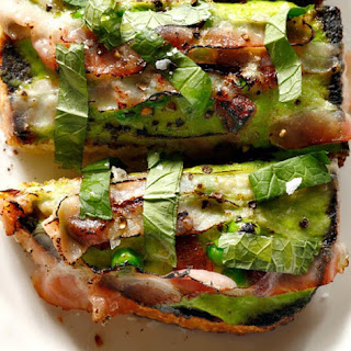 Pea Butter And Bacon Toast