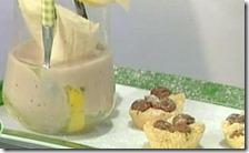 Bonbon di sbrisolona con frappè di banane