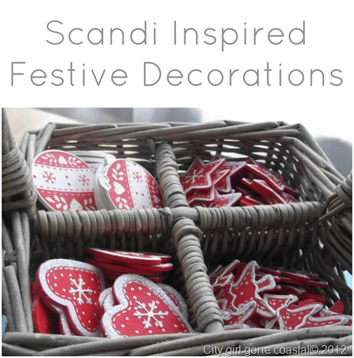 scandi inspired festive decorations