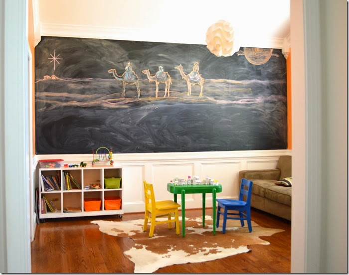 Playroom with Three Wise Men Chalk Art