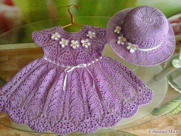 Vestidos De Niñas Tejidos Al Crochet