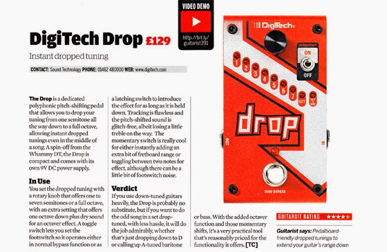 Guitarist magazine review the DigiTech Drop   From UK distributor