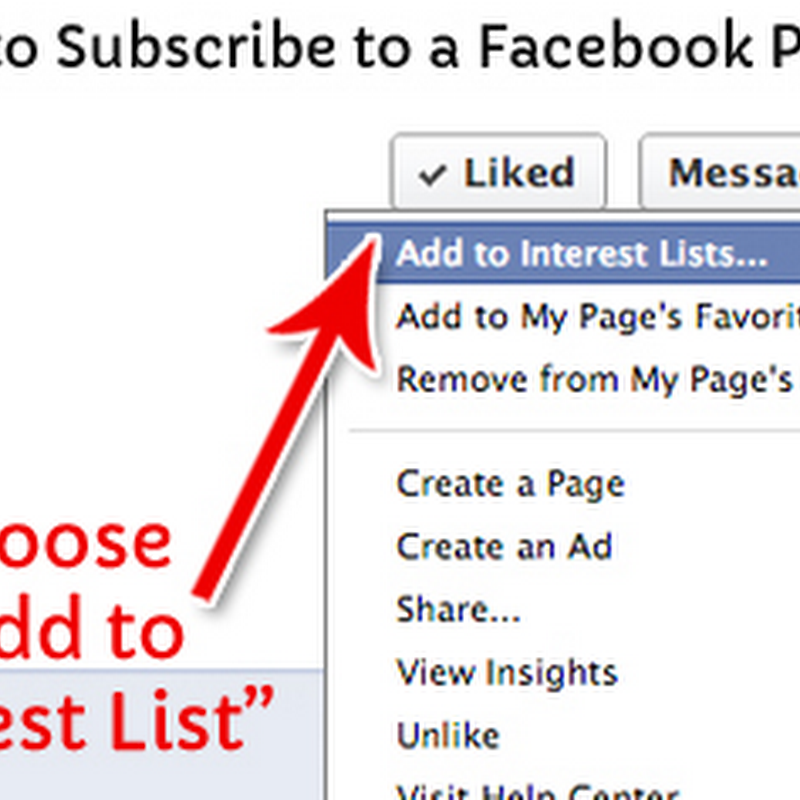 How to Use Facebook Interest Lists to Follow Pages