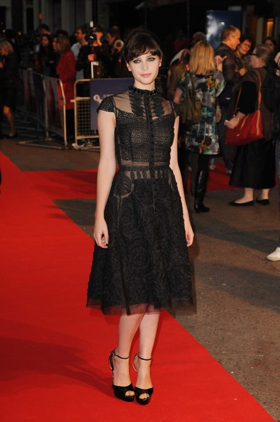 Felicity Jones attends the Like Crazy premiere during the 55th BFI London Film Festival