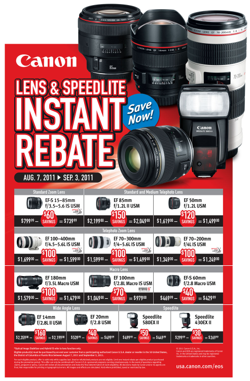 Canon Instant Rebates