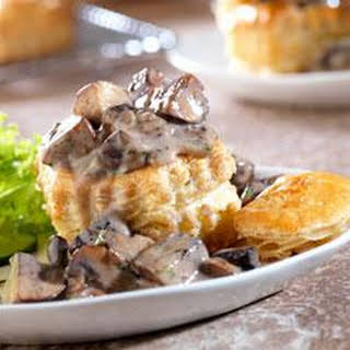 Wild Mushroom Ragout in Puff Pastry Shells.