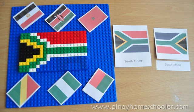 South African Flag using LEGO