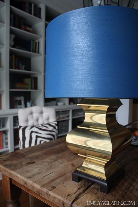 My 1 Brass Lamp A Spray Painted Shade Emily A Clark