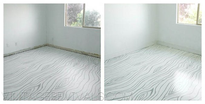 How To Paint and Clean Concrete Floors Full Tutorial @ Vintage Revivals-16