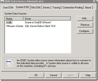 CREATING A DATABASE FOR VCENTER IN ORACLE 12C