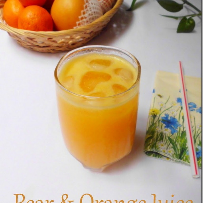 Pear & Orange Juice