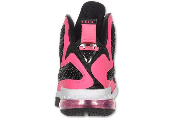 fa9fb5ffdc5d8 ... Nike Lebron 9 GS Laser Pink Metallic Silver 8211 Black ...