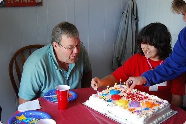 Blowing out the candles before they burn the house down.