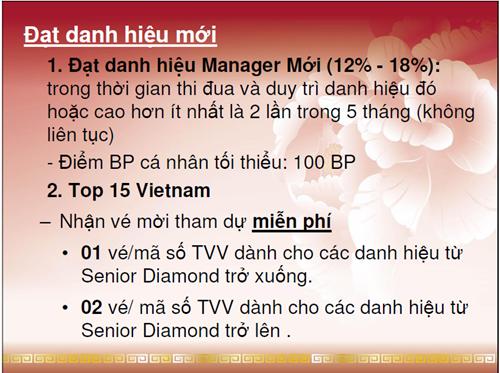 Thông tin Oriflame Manager Seminar 2012