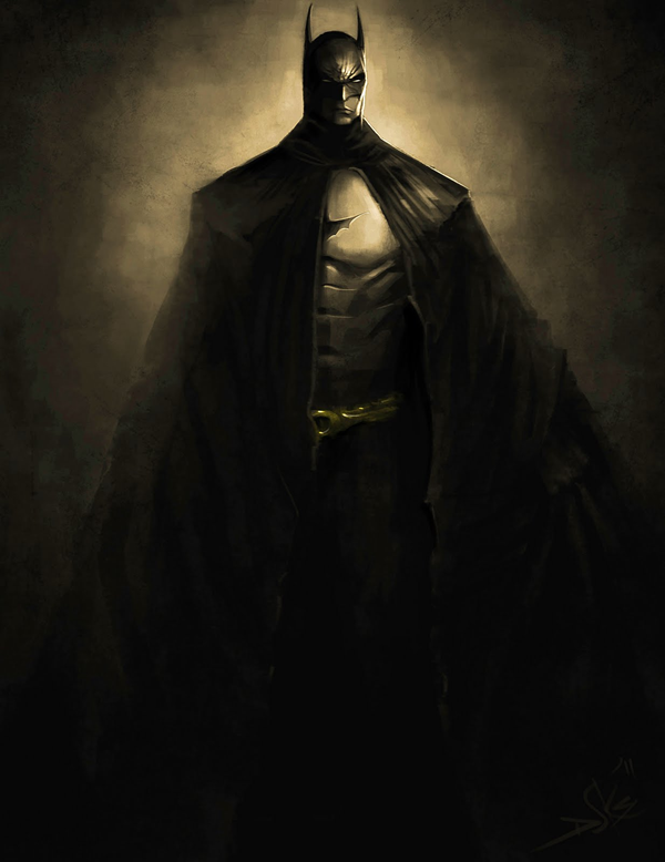 batman speed painting
