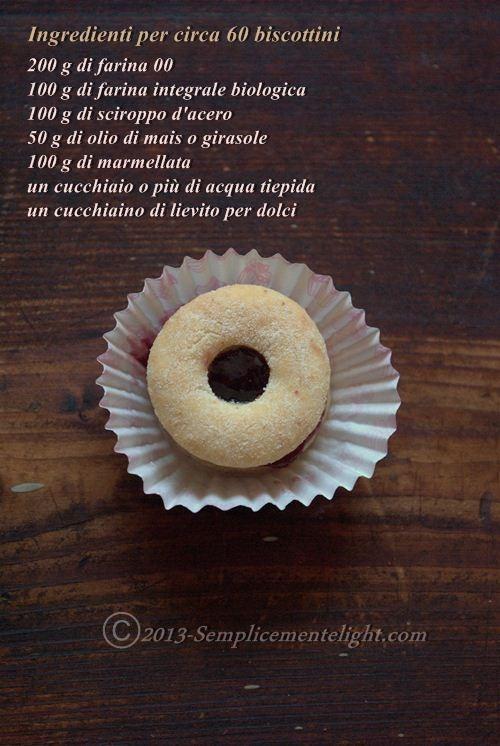 ingredienti per Biscotti integrali con sciroppo d'acero