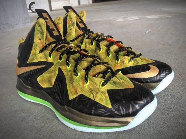 best sneakers f4fc9 7c484 Nike LeBron X PS Elite 82202x Champion8221 Custom by Mache ...
