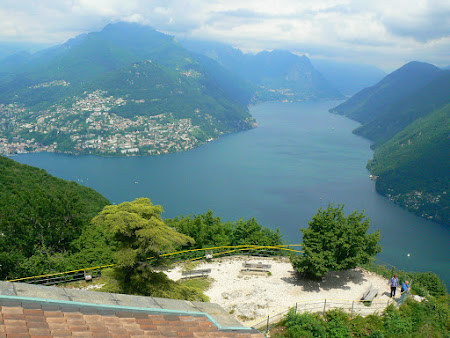 Panorama Elvetia: lacul Lugano