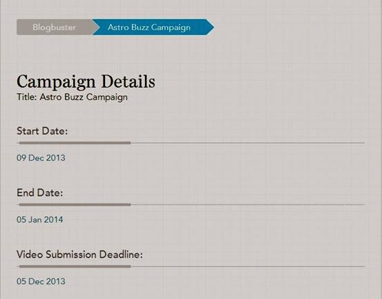 Nuffnang Blogbuster:Astro Buzz Campaign