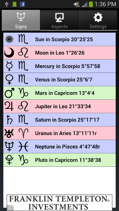 Moon Phases and Zodiac Aspects - Android Apps on Google Play