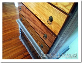 Ombre Stained Drawers {Sawdust and Embryos}
