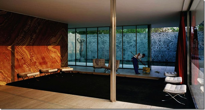 Jeff-Wall-Morning Cleaning, Mies van der Rohe Foundation, Barcelona 1999
