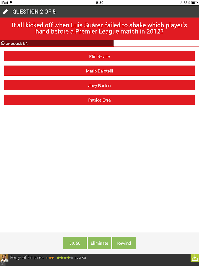 Football Quiz - FootieQuiz C&C- screenshot