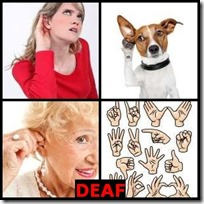 DEAF- 4 Pics 1 Word Answers 3 Letters