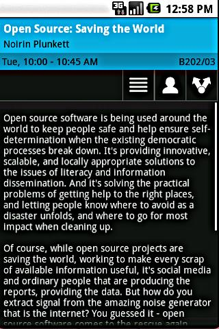 Open Source Bridge Schedule - screenshot