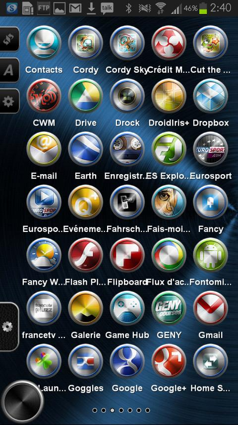 TSF Shell Theme Metal HD- screenshot