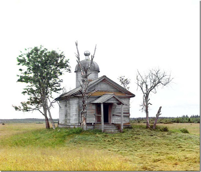 A-Chapel-on-the-Site-Where-the-Old-City-of-Belozersk-Stood-1909