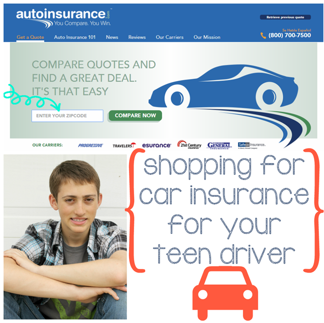 Ginger Snap Crafts: Shopping for Car Insurance for Your Teen Driver Compare2Win