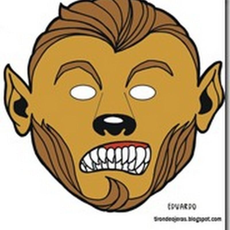 Mascara De Hombre Lobo Para Imprimir Y Recortar Colorear Dibujos