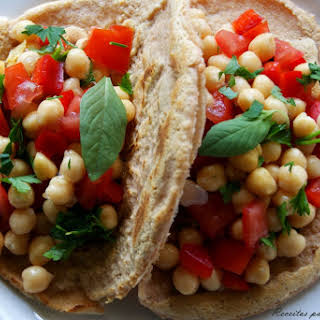 Lentil Tacos with Chickpea Salad.