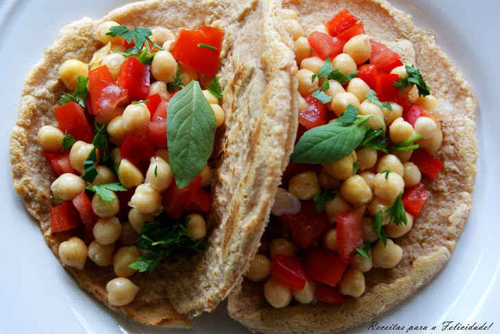 Lentil Tacos with Chickpea Salad Recipe