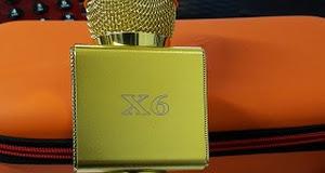 MIC KARAOKE X6 - Có Cổng USB - ÂM THANH CỰC HAY - HỘP BAO DA.