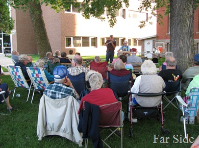 Music on the courthouse lawn June 25