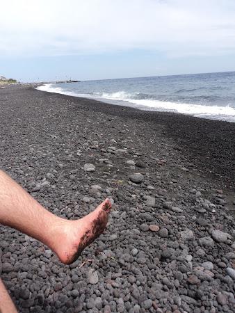 Imagini Italia: plaja Stromboli