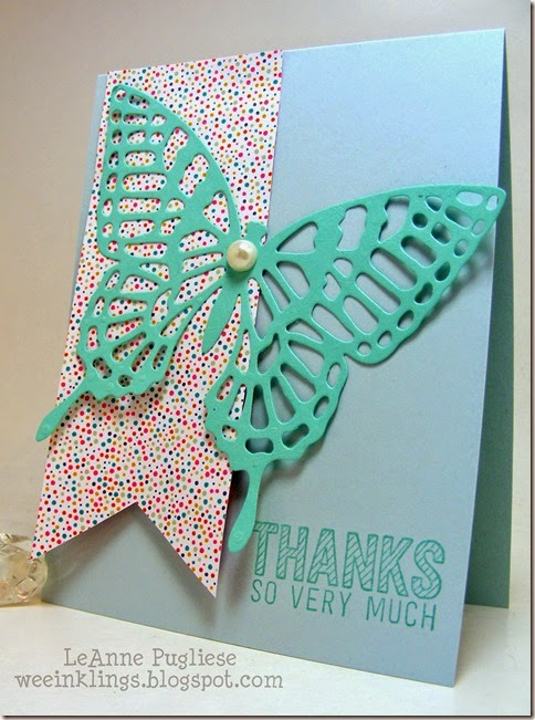 LeAnne Pugliese WeeInklings CAS Butterfly Stampin Up