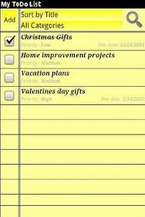 My ToDo List- screenshot thumbnail