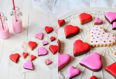 Galletas de corazones. ¡Deliciosas!