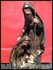 carved nativity