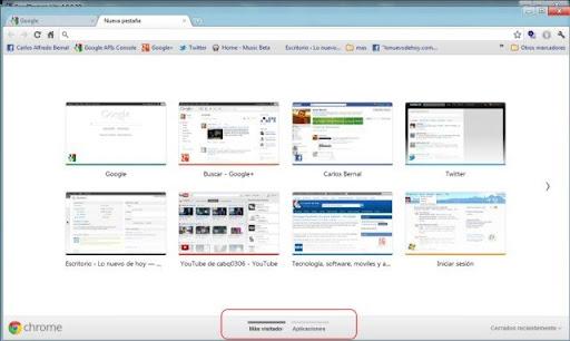 instaladas en Chrome